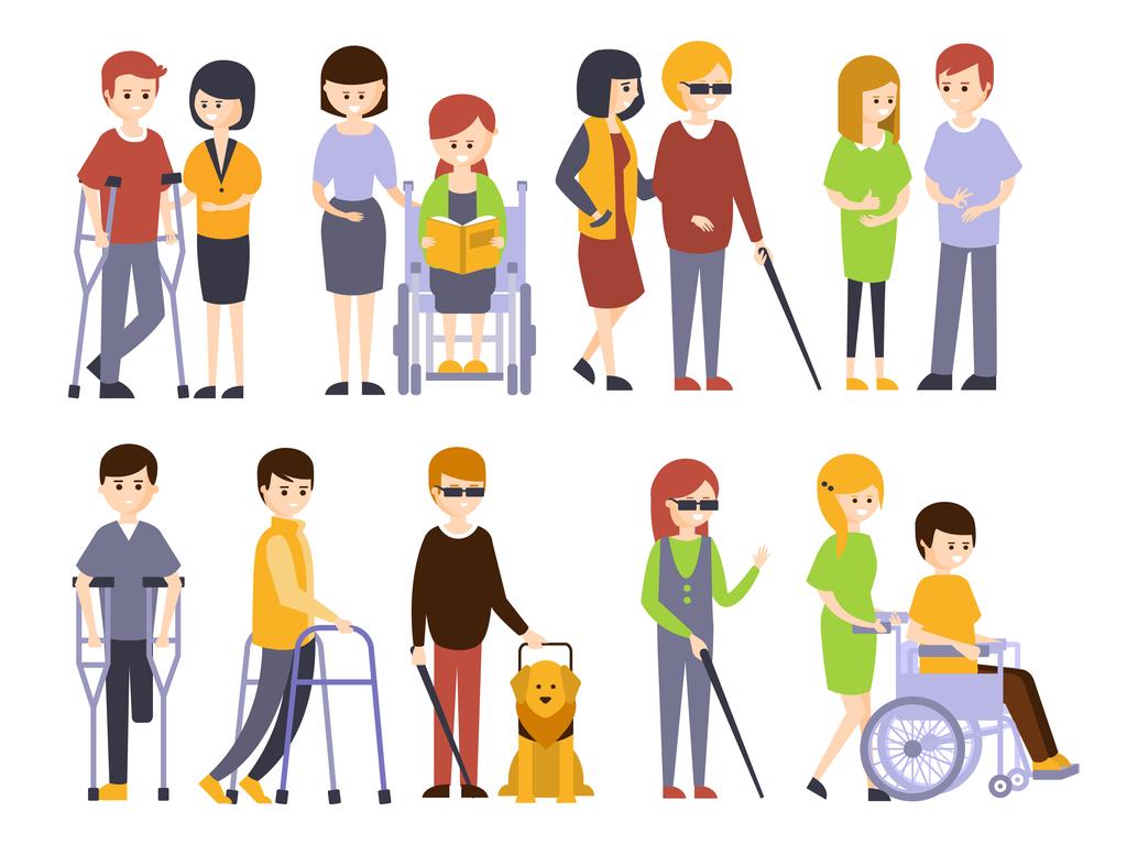 imagen de personas con discapacidad